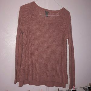charlotte russe light pink sweater